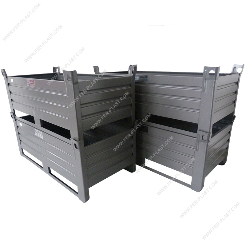 Contenitori In Ferro Per Magazzino.Cassoni E Cestoni In Metallo Contenitori In Metallo