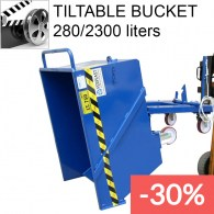 tiltable buckets to collect scraps